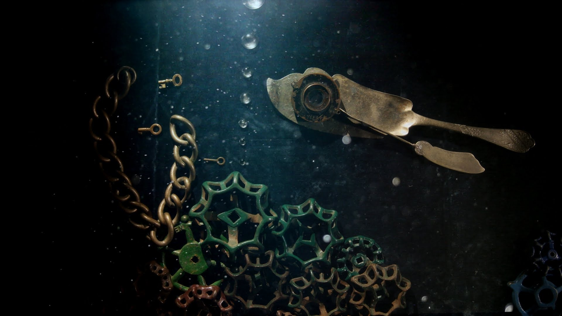 Stop motion of ocean creatures made from man-made objects