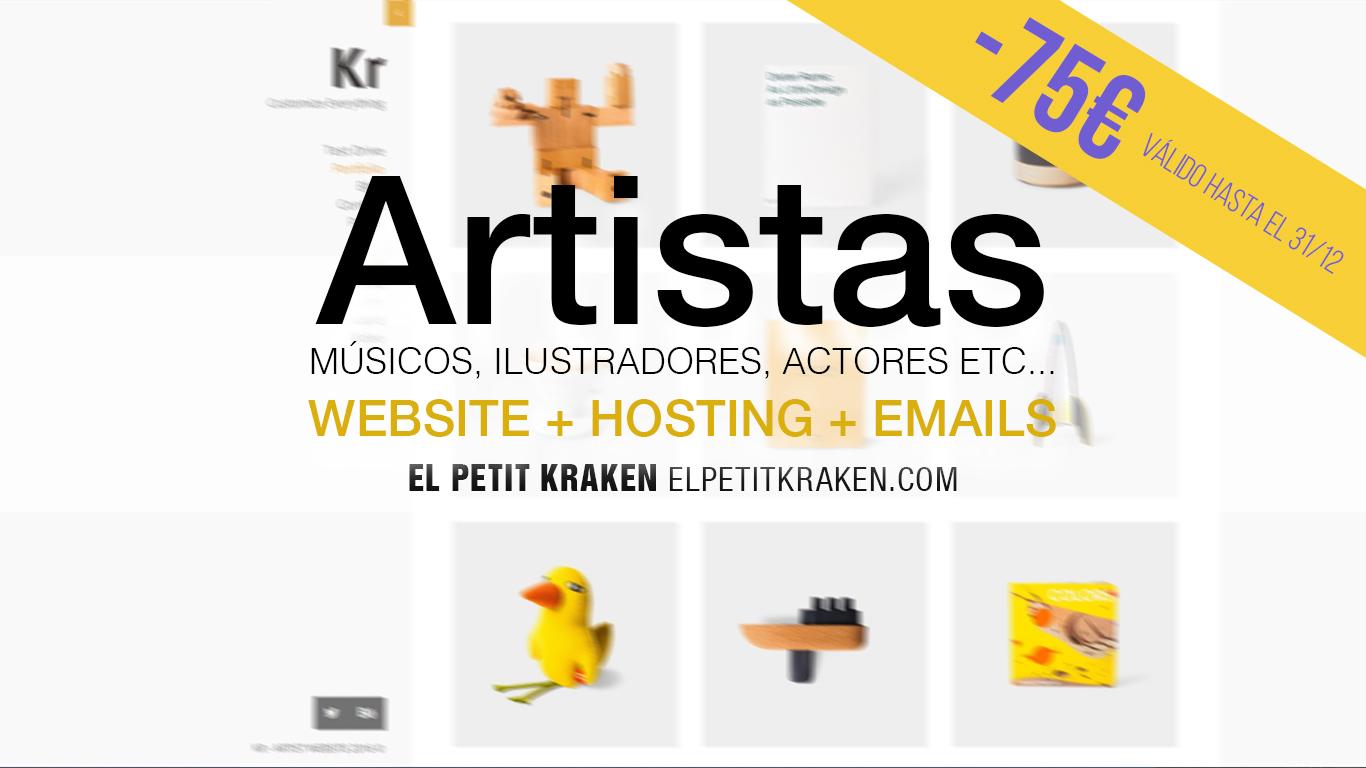 Webs para artistas, musicos, ilustradores, actores