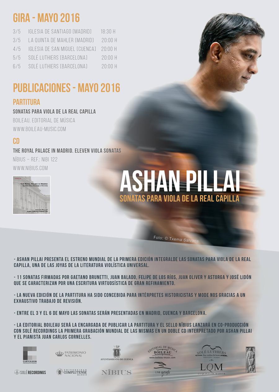 Ashan Pillai presenta las sonatas para viola